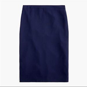 J Crew Pencil Skirt in 365 crepe - Size 8 - Navy